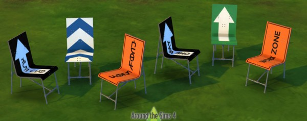 Around The Sims Road Sign Furniture Sims Downloads - Road sign furniture