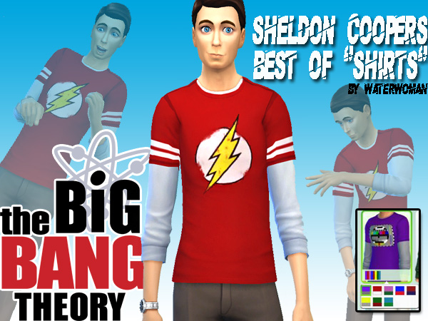 Akisima Sims Blog: Sheldon Coopers Shirts