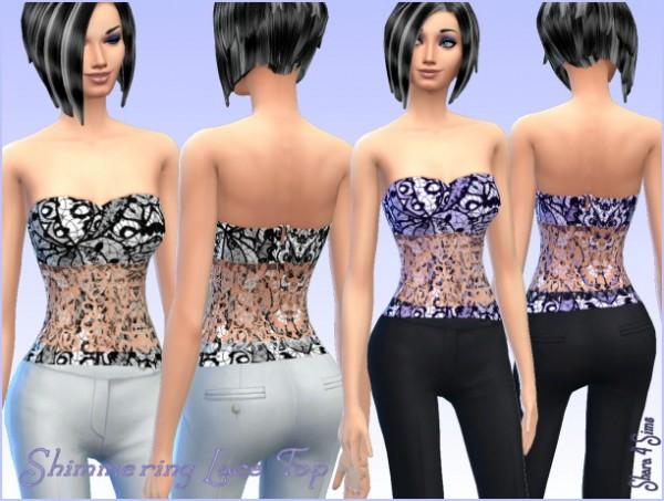 Shara 4 Sims: Shimmering Lace Top