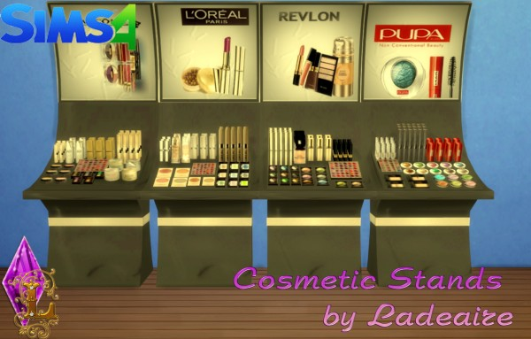 Ladesire Creative Corner Cosmetic Stands Sims 4 Downloads