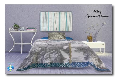 Msteaqueen: Bedspread & Pillow Recolors