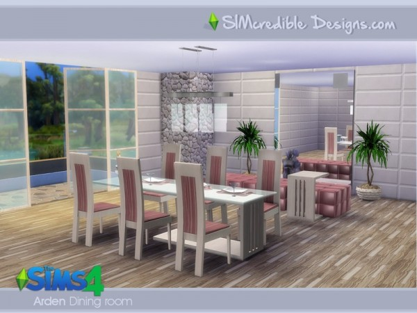 The sims resource arden dining room by simcredible sims for Dining room ideas sims 4