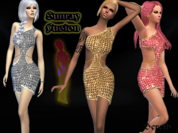 The Sims Resource: Sunray Fusion/Party Dress by Bereth