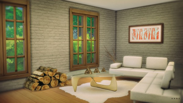 Alachie and Brick Sims: Noguchi table and Sheepskin rug