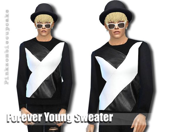 The Sims Resource: Forever Young Sweater by Pinkzombiecupcake