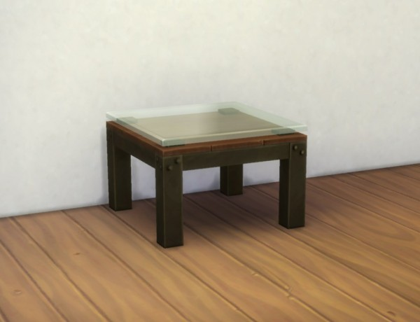 Mod The Sims: Small U201cIndustrialu201d Coffee Table By Plasticbox ...