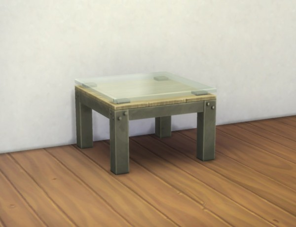 Mod The Sims Small Industrial Coffee Table By Plasticbox Sims 4 Downloads
