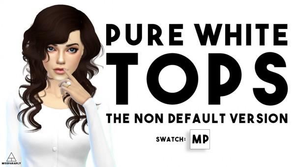 Miss Paraply: Pure white tops