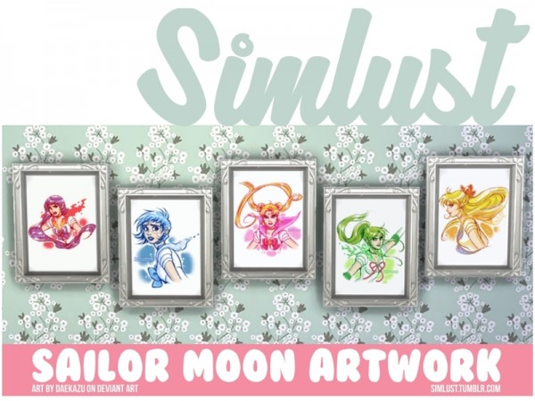 The Sims Resource: Sailor Moon Artwork by Simlust