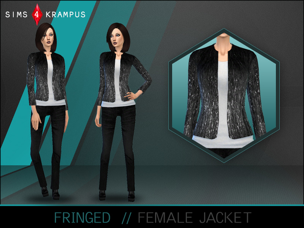 The Sims Resource: Fringed Jacket by SIms4Krampus