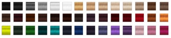 Miss Paraply: Hair retextured in 42 colors
