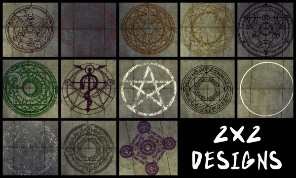 The Path Of Nevermore: 3x3 design rugs