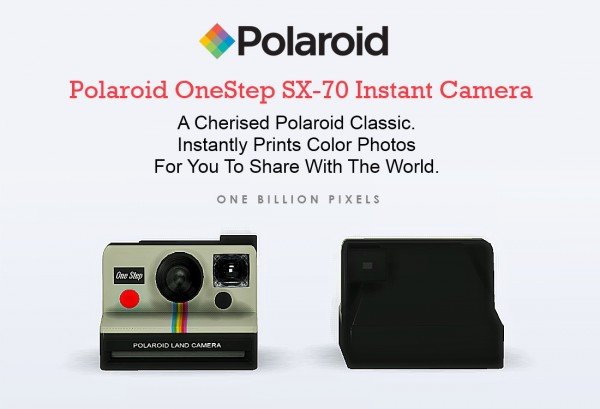 One Billion Pixels Polaroid Cameras Sims 4 Downloads