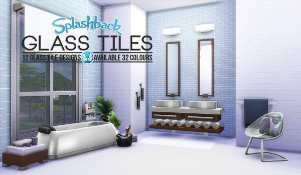 Simsational designs: Splashback Glass Tiles