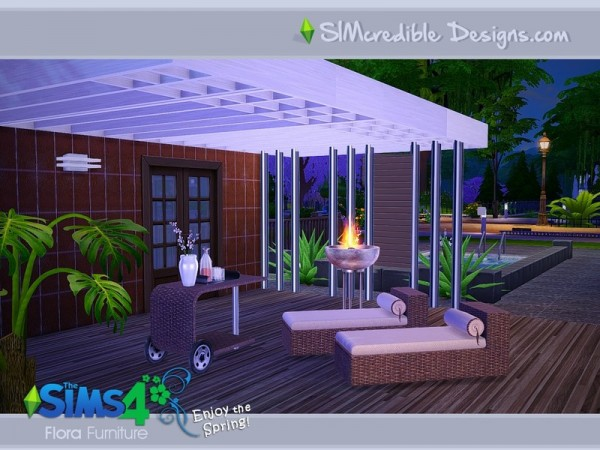The Sims Resource Flora Outdoor Set By Simcredible Design