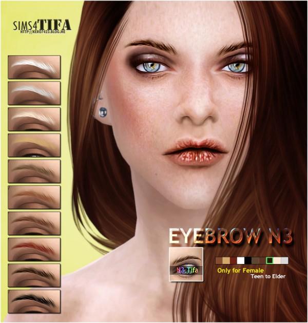 Tifa Sims: Eyebrow N3 F