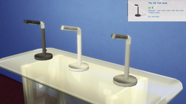 Mod The Sims: 3 Modern LED table lamps by necrodog