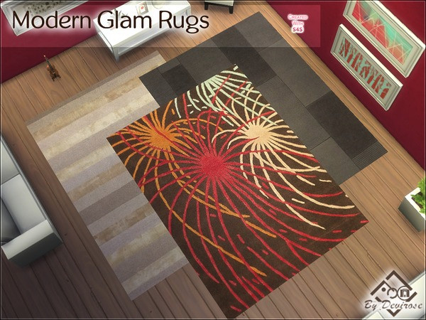 The Sims Resource: Modern Glam Rugs by Devirose