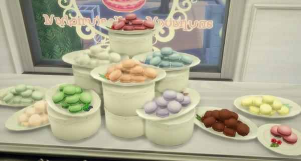 Budgie2budgie little macaron set windows sticker sims 4 downloads - Plaque decorative cuisine ...