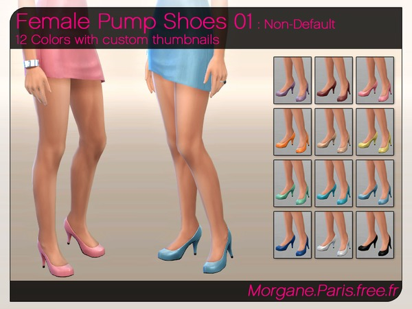 The Sims Resource: Pump Shoes 01 by MorganeParis