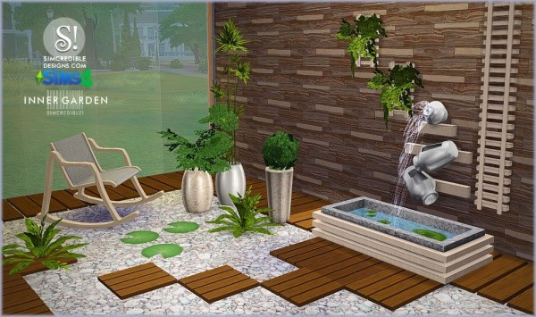 SIMcredible Designs Inner Garden Sims 4 Downloads