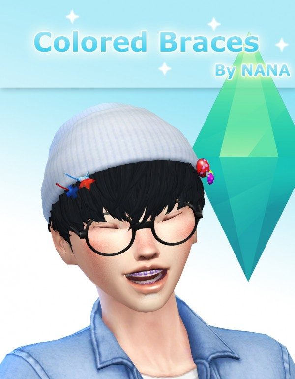 Nolween: Colored braces 6 colors   By Nana