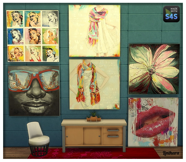 Wall Art Apk Download : Lintharas sims paintings quot touch of colours and