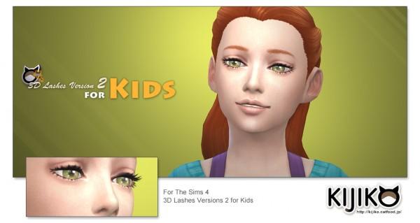 Kijiko: 3D Lashes Version2 for Kids