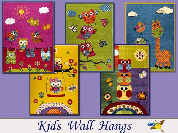 The Sims Resource: Kids wall hangs by Evi