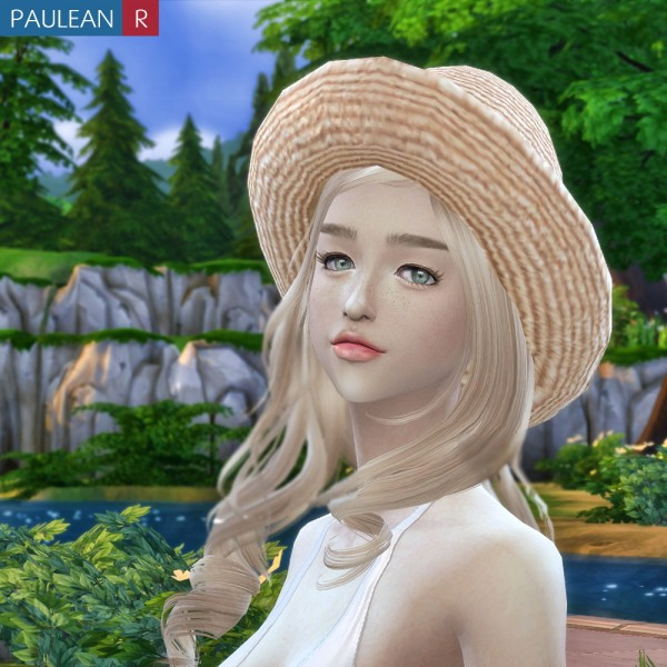Paluean R Sims Lace Straw Hat Sims 4 Downloads