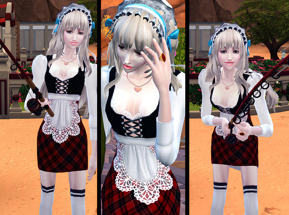 Studio K Creation Maid Dress Lily Sims 4 Downloads