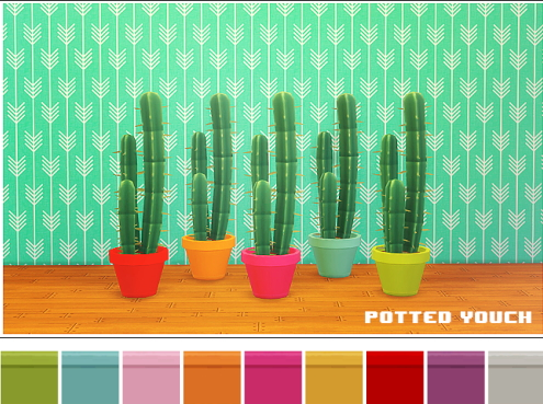 LinaCherie: Potted Youch   recolors