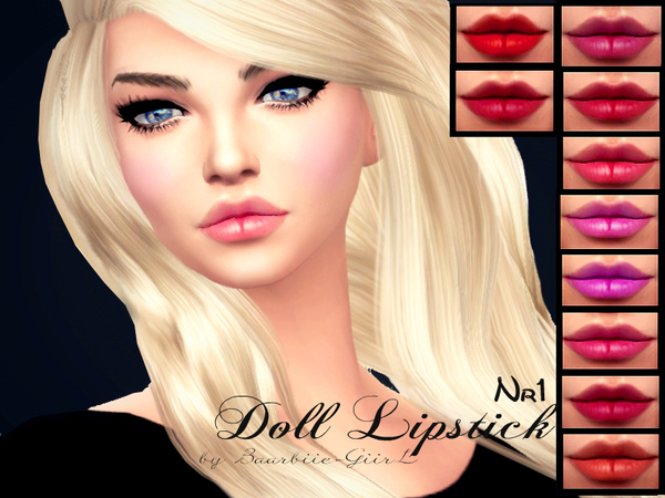The Sims Resource: Doll Lipstick Nr.1 by Baarbiie GiirL