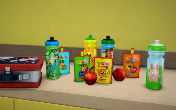Budgie2budgie Water Bottle And Fruit Smoothie Sims 4