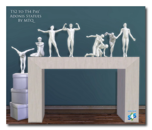Msteaqueen: Adonis Statues converted from TS2 to TS4