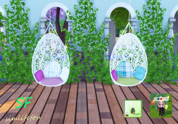 Simlife: Bohemian garden hanging chair converted from TS3