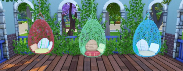 Simlife Bohemian Garden Hanging Chair Converted From Ts3