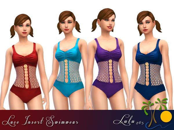 The Sims Resource: Lace Swimwear by Lulu265