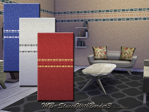 The Sims Resource: StuccoWithBorder3 by matomibotaki
