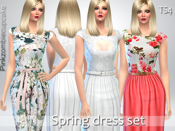 The Sims Resource: Spring Dress Set by Pinkzombiecupcake