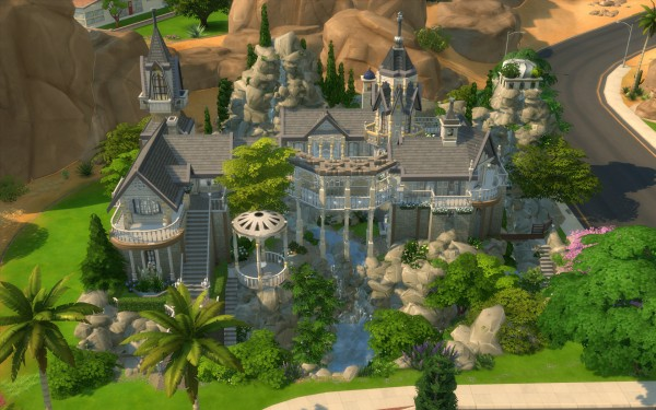 Mod The Sims Rivendell Elven Outpost No Cc By Artrui