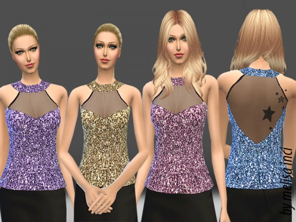 The Sims Resource: Sweetheart Mesh Halter Top by MelisaInci