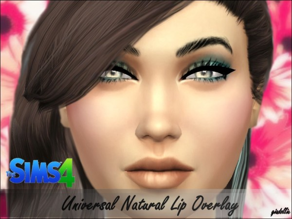 The Sims Resource: Universal Natural Lip Overlay by Giadollie