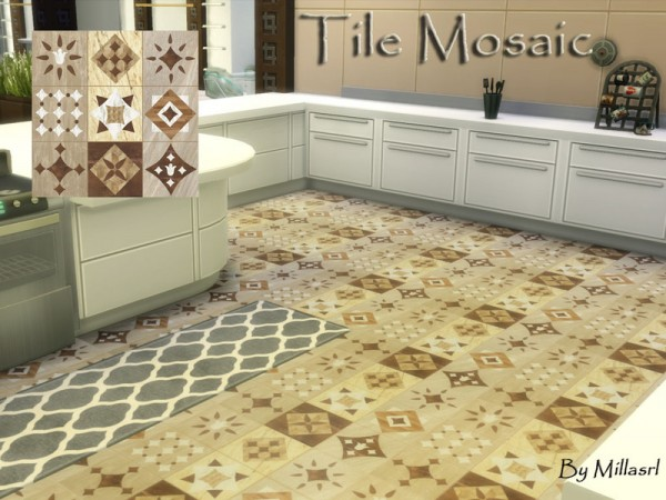 The Sims Resource: Tile Mosaic by millasrl