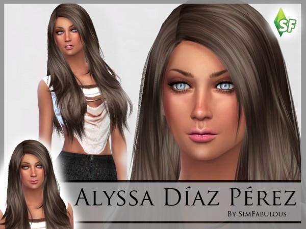 The Sims Resource: Alyssa Perez by SimFabulous