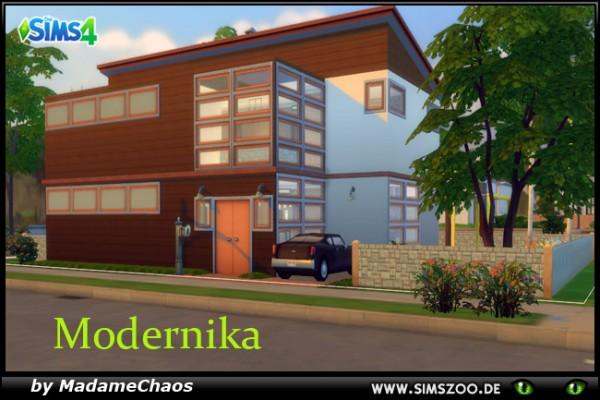 Blackys Sims 4 Zoo: Modernika house by Madame Chaos