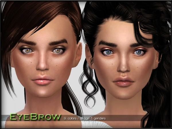The Sims Resource: EyebrowSet2 by ShojoAngel