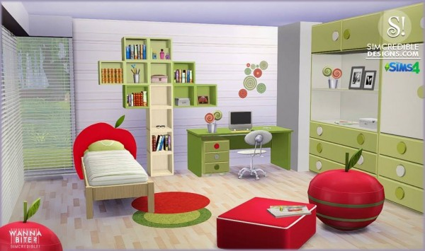 SIMcredible Designs: Wanna Bite? kidsroom • Sims 4 Downloads