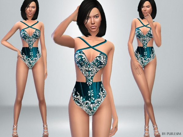 The Sims Resource: Jeweled Bodysuit by PureSim