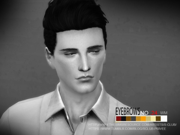 The Sims Resource: Eyebrows 24 M by S Club